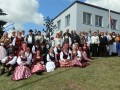 Priekules sieviešu koris ciemos pie kaimiņiem lietuviešiem - Mosedē. 02.08.2013.